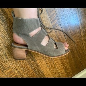 Suede Gladiator Sandals Lace Up - Size 9